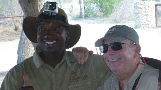 Arathusa Safari Lodge: Chris, our tracker was wearing my GoPro video camera