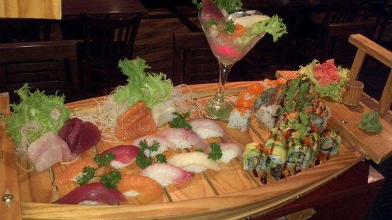 Shogun Japanese Steakhouse: Love boat for two.