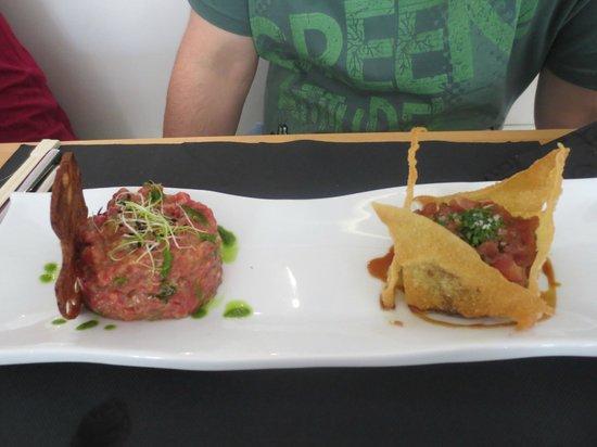 Óleo Restaurante: Duo de tartar