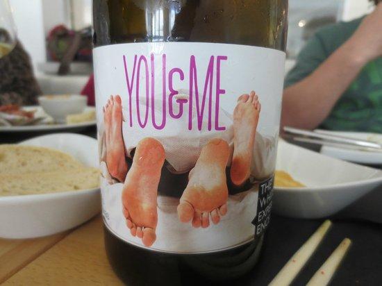 Óleo Restaurante: nos encantó la etiqueta y el vino