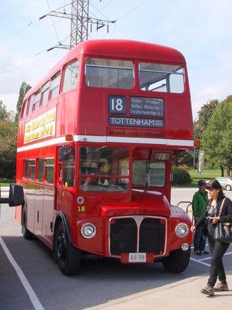 Floral Clock: A lost bus at the Clock car park - COYS!