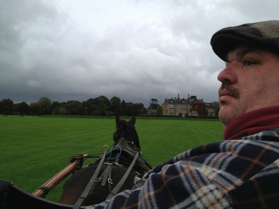 Muckross House, Gardens & Traditional Farms: Corny, the 3rd generation jaunty driver.  The license must be handed down and cannot be purchase