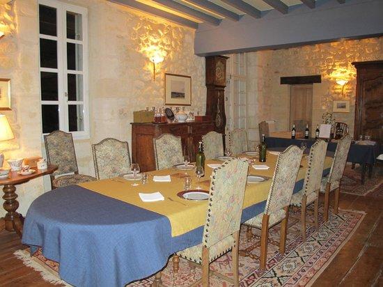 Chambres d'hotes Saint Emilion Bordeaux: Beau Sejour : Dinner at Beau Sejour