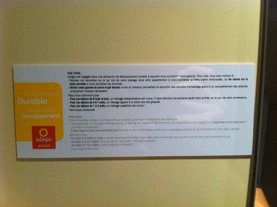 Torcy Marne-la-Vallee : Politique de l'hotel concernant le ménage...
