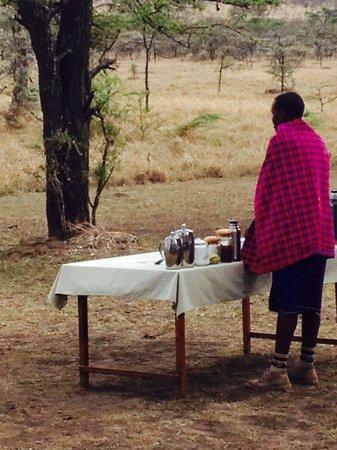 Naboisho Camp, Asilia Africa: Breakfast at Naboisho Camp