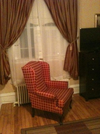 Cantwell House: Comfy seat by the fire in my bedroom