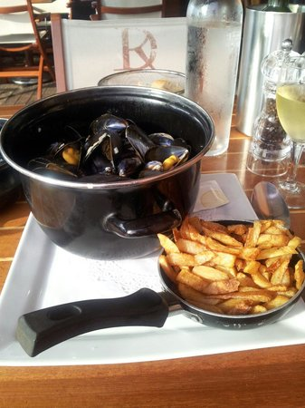 Le Grill Ocean: Moules sauce gorgonzola