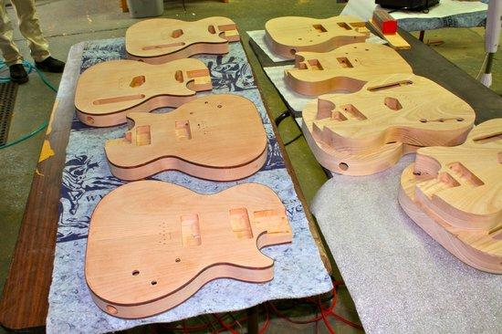 Saint Blues Guitar Workshop: Bodies ready for production