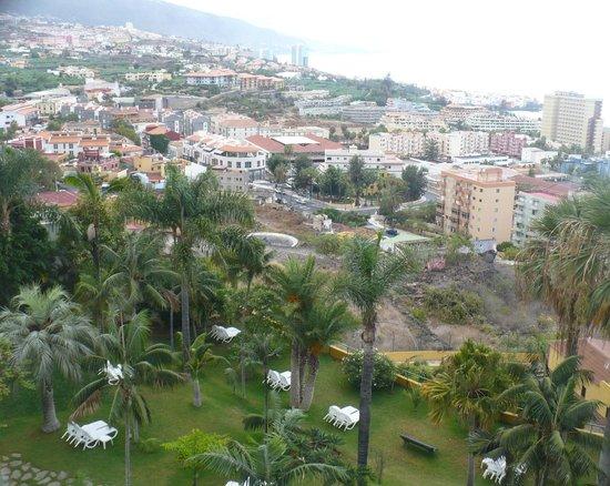 Hotel Tigaiga : Blick über den Hotelgarten nach Westen