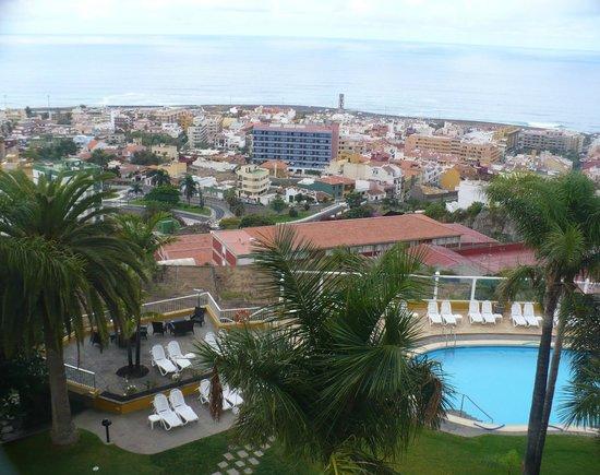 Hotel Tigaiga : Blick über Puerto de la Cruz auf den Atlantik