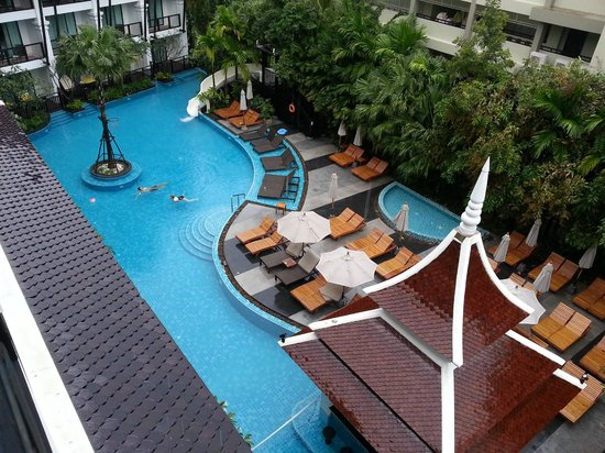 Centara Anda Dhevi Resort and Spa: View from room on 5th floor, showing part of the pool area