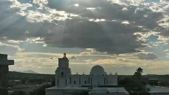Mission San Xavier del Bac : From above