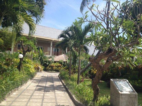 The Lovina: das Hotelgelände, auf dem Weg zum Strand