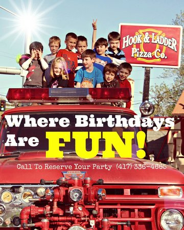 Hook and Ladder Pizza Co.: Fun stuff & awesome Pizza! Call for Birthday info!