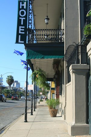 French Quarter Suites Hotel: looking down the road at hotel