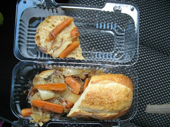 Nani's Cafe & Beach SHop: Specialty item of the day - the pot roast sandwich