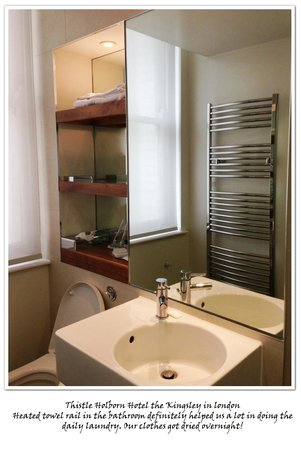 Thistle Holborn, The Kingsley: Bathroom with heated towel rail bar