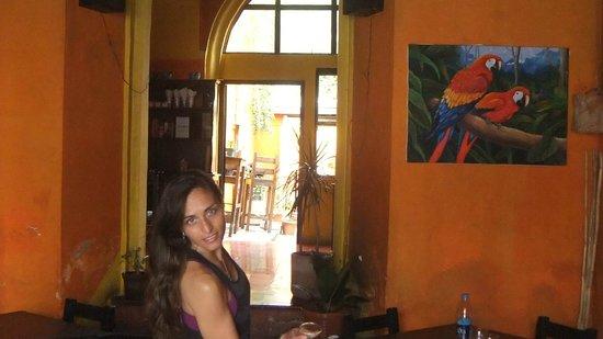 Café Flor: Kathe happy after Thai food