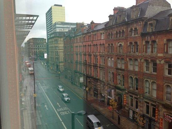 Novotel Manchester Centre : Uitzicht vanuit fitnessruimte
