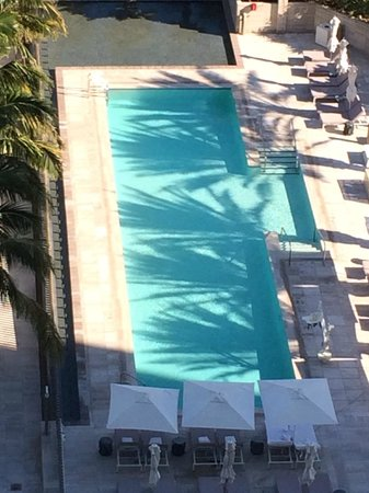 The St. Regis Bal Harbour Resort: View of a pool from our room - There were 2 larger pools