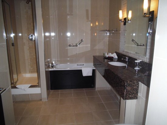 Carlton Hotel Dublin Airport : The large spacious bathroom