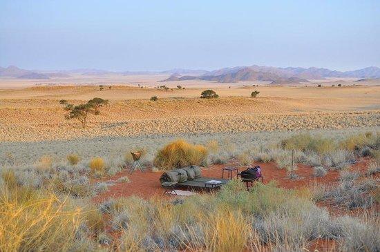 NamibRand Nature Reserve: notre lit dans le désert