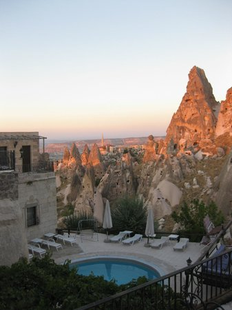 Hermes Cave Hotel : The view from our balcony