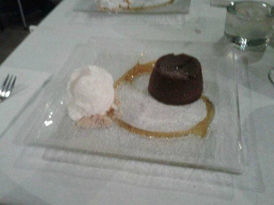 Latini Restaurant: Chocolate orange fondant.