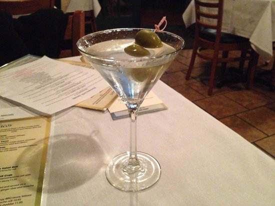 Blue Water Grill: Nicely Chilled Blue Sapphire Martini