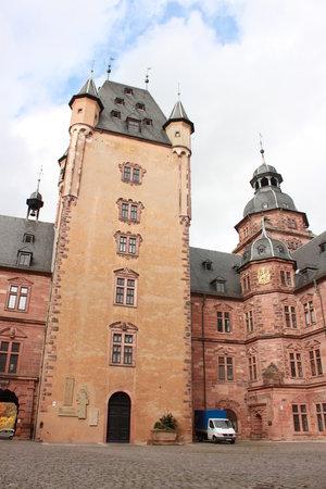 Schloss Johannisburg mit Schlossanlagen: Turm