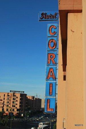 Corail Hotel: Vue d'une chambre coté Hassan II