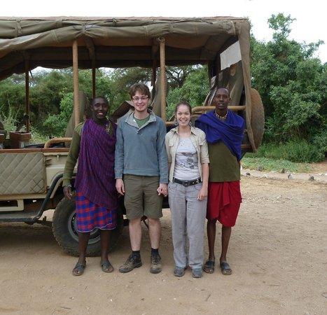 Porini Amboseli Camp: Andrew, Daniel and us