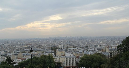 "Ermitage Hotel Sacre-Coeur: view over Paris from the ""parvis du Sacré Coeur"", a stone's throw from the hotel"