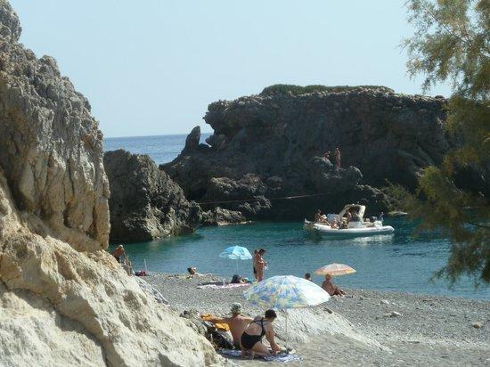 Syia Hotel : La spiaggia di Sougia