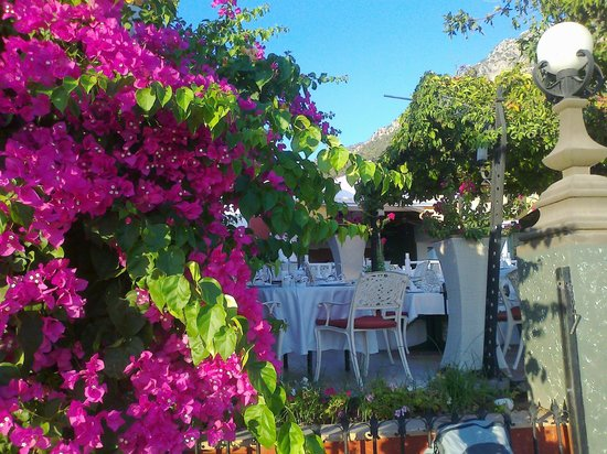 Belcekis Hotel Restaurant: Beautiful setting