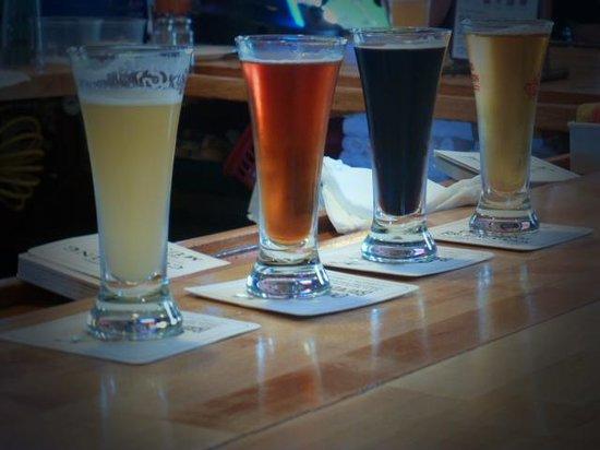 Outer Banks Brewing Station: Beer sampler