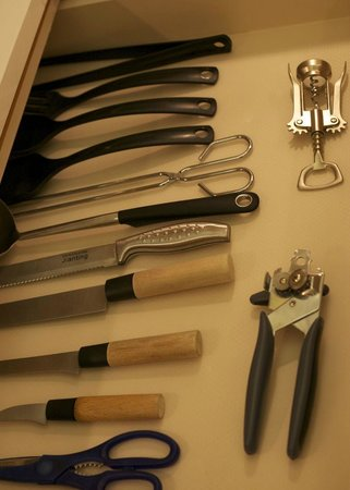 Palauet Tres Torres: When drawer cutlery is laid out like this, you know they've an eye for detail