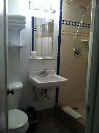 Golden West Motel: Very well maintained bathroom.  New shower head, clean tile.