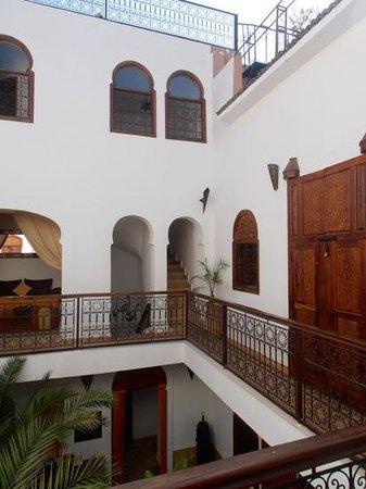 Riad 107: vue de notre chambre au premier étage