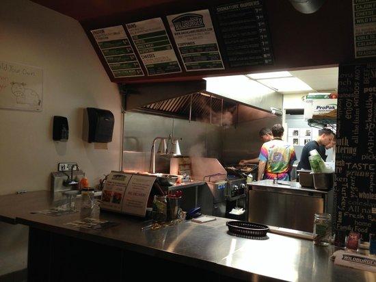 American wild burger: Intérieur