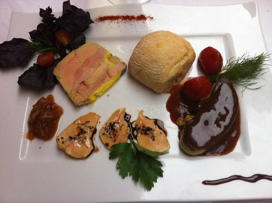 Le lion d'or : Trio de foie gras