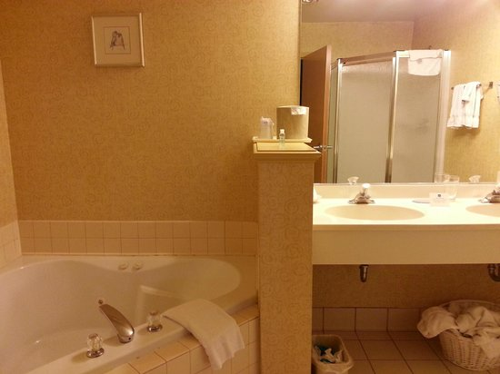 Best Western Plus Revere Inn & Suites: Double sink, large room, needs some TLC