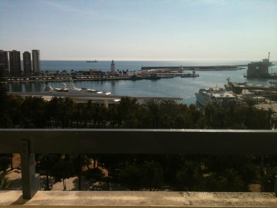AC Hotel Malaga Palacio: view from balcony of room 1114 - photo does not do it justice as only taken with mobile phone