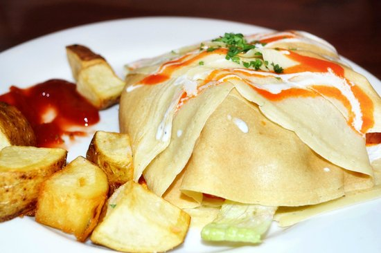 Savory & Sweet: Savory Buffalo Chicken Crepe