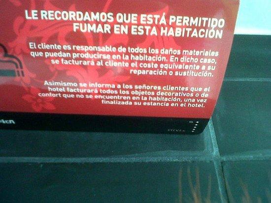 Hotel Puerta America: Nota informativa.