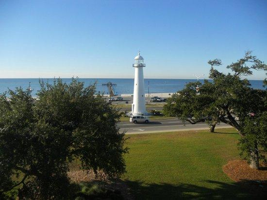 Biloxi Visitors Center: lighthouse from visitors center