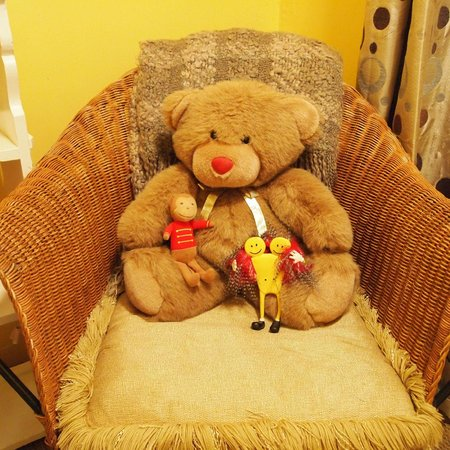 The Palm: Teddy Bear was in the room. His friends came to visit.