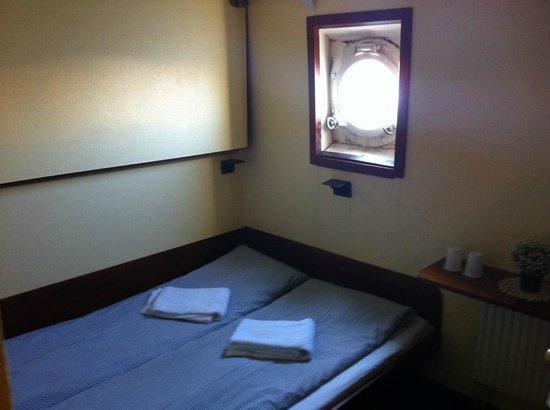 Rygerfjord Hotel and Hostel : Une cabine standard avec vue sur la lagune