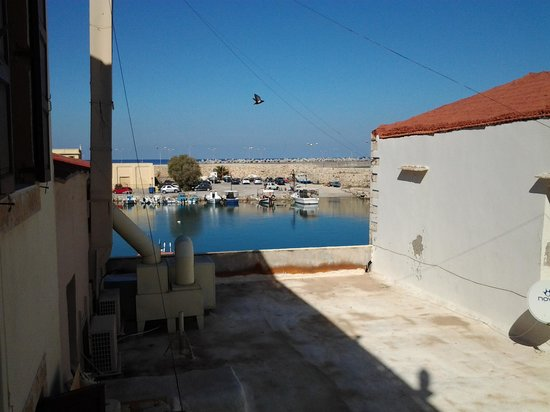 Faros Beach Hotel : View of Venetian harbour from room.