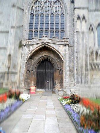 Kings Lynn Minster: entrance to the minster